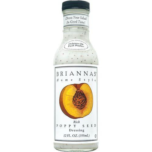 Briannas Home Style Dressing, Rich Poppy Seed, 12 Oz (Pack of 6)