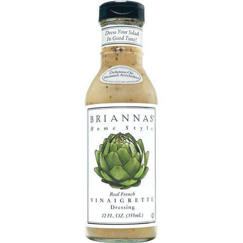 Briannas Real French Vinaigrette, 12 Oz (Pack of 6)