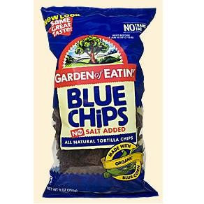 Garden Of Eatin Organic Blue Corn Tortilla Chips Unsalted, 16 Oz (Pack of 12)