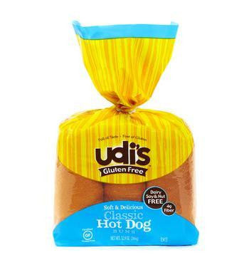 Udi's Gluten Free Classic Hot Dog Buns, 14.4 Oz (Pack of 6)