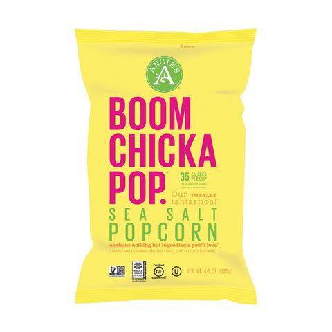 Angies BoomChickaPop Seasalt Popcorn, 5 OZ (Pack of 12)