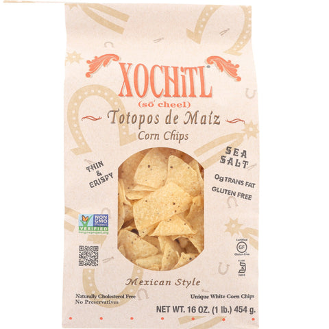 Xochitl Mexican Style Stone-Ground Corn Chips, 16 Oz (Pack of 9)