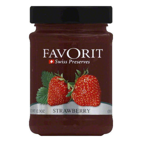 Favorit Jam Strawberry, 12.3 OZ (Pack of 6)