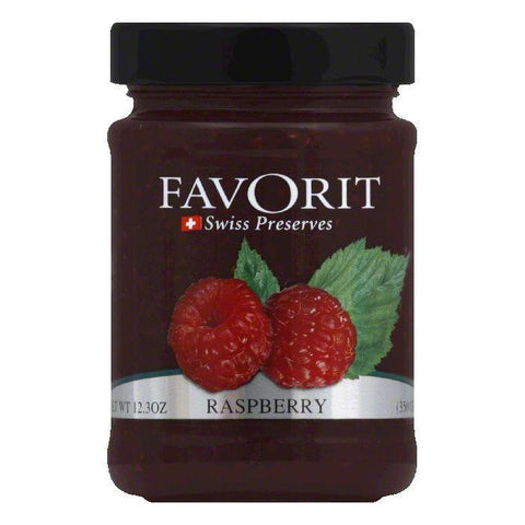 Favorit Jam Raspberry, 12.3 OZ (Pack of 6)