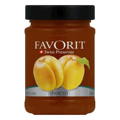 Favorit Jam Apricot, 12.3 OZ (Pack of 6)