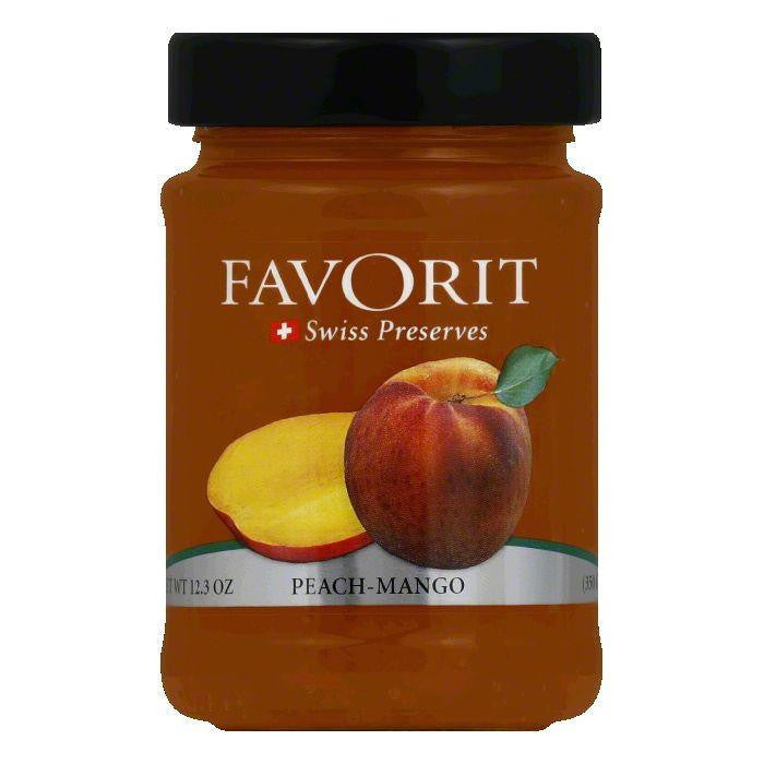 Favorit Preserves Peach Mango, 12.3 OZ (Pack of 6)