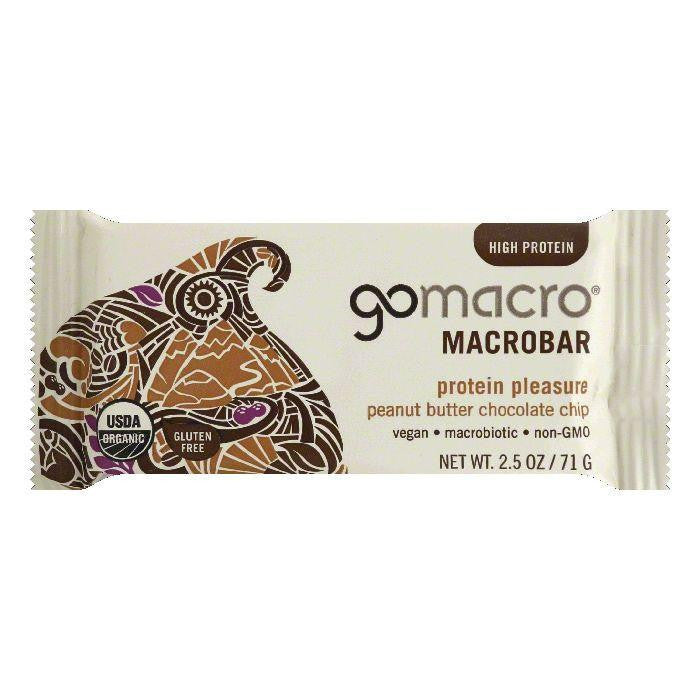 GoMacro Peanut Butter Chocolate Chip Protein Pleasure Macrobar, 2.5 Oz (Pack of 12)