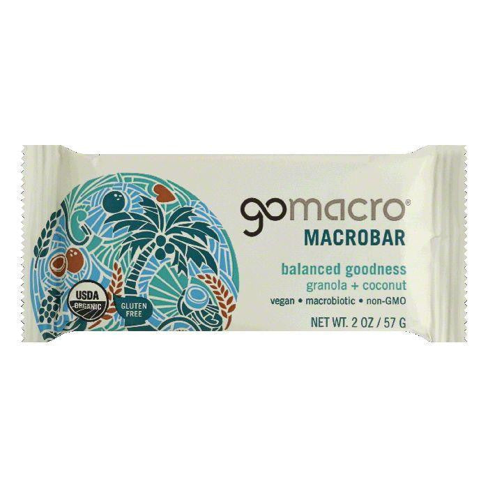 GoMacro Granola + Coconut Balanced Goodness Macrobar, 2 Oz (Pack of 12)