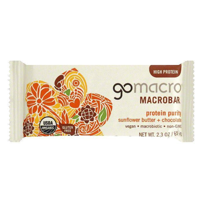 GoMacro Sunflower Butter + Chocolate Protein Purity Macrobar, 2.3 Oz (Pack of 12)