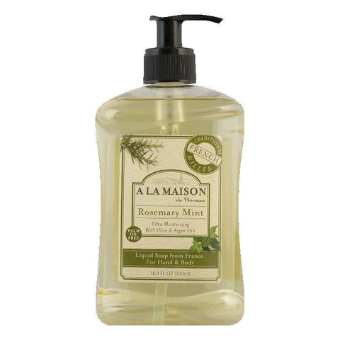 A La Maison Rosemary Mint for Hand & Body Liquid Soap, 16.9 FO
