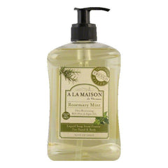A La Maison Rosemary Mint for Hand & Body Liquid Soap, 16.9 FO (Pack of 1)