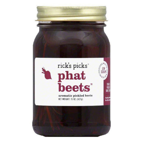 Rick's Picks Aromatic Pickled Beets Phat Beets, 15 OZ (Pack of 6)
