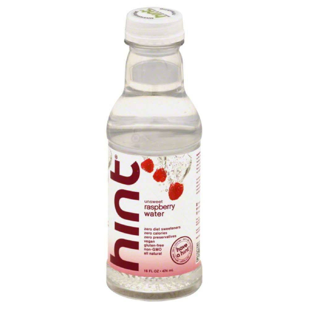 Hint Raspberry Unsweet Water, 16 Fo (Pack of 12)