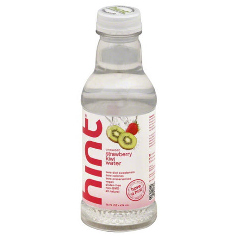 Hint Strawberry Kiwi Unsweet Water, 16 Fo (Pack of 12)