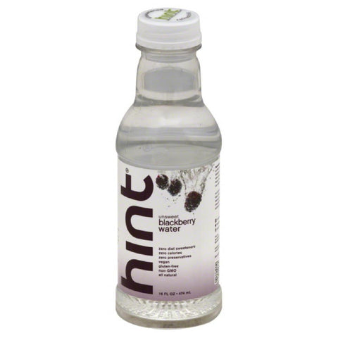 Hint Blackberry Unsweet Water, 16 Fo (Pack of 12)