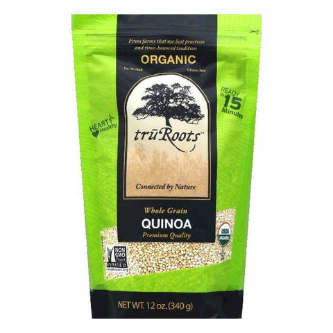 Tru Roots Organic Whole Grain Quinoa, 12 Oz (Pack of 6)