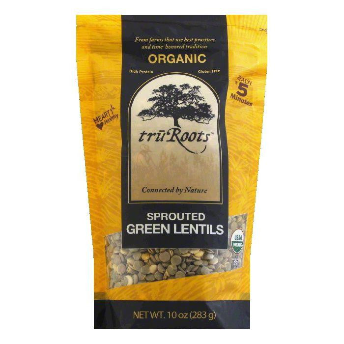 Tru Roots Organic Sprouted Green Lentils, 10 Oz (Pack of 6)