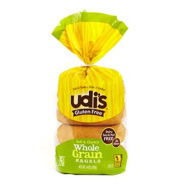 Udi's Gluten Free Whole Grain Bagels, 13.9 Oz (Pack of 8)