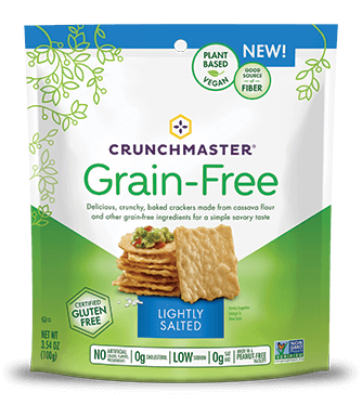 Crunchmaster Grain Free Lightly Salted Cracker, 3.54 OZ (Pack of 12)