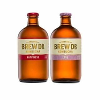 Brew Dr. Kombucha Organic Two Flavor Variety Pack, 14 oz. 6 Count; Love, Happiness (3 Of Each)