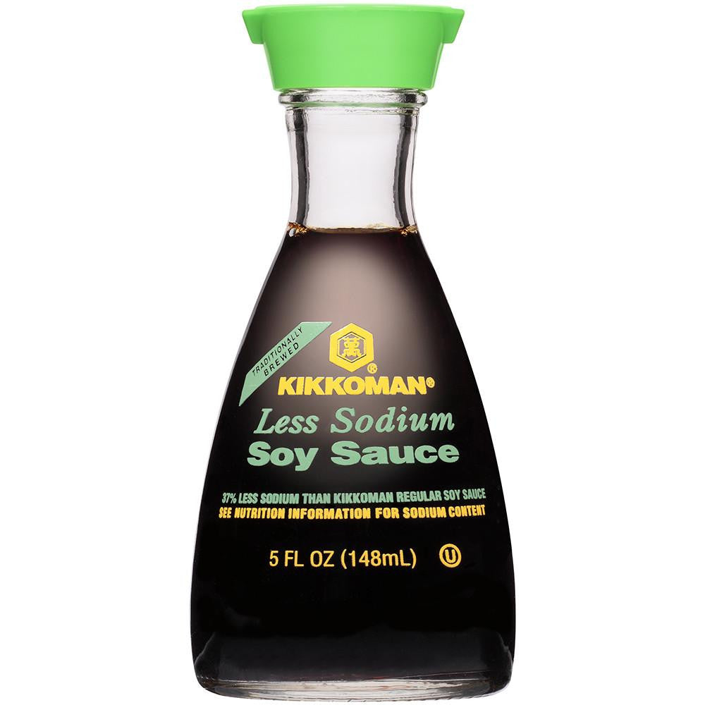 Kikkoman Less Sodium Soy Sauce 5 fl. Oz (Pack of 6)