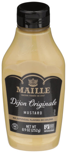 Maille Dijon Originale Traditional Dijon Squeeze Mustard, 8.9 OZ (Pack of 6)