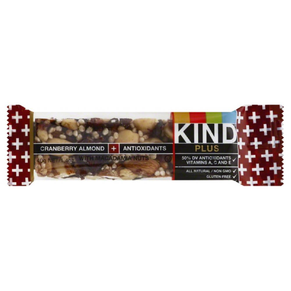 Kind Cranberry Almond + Antioxidants Bar with Macadamia Nuts, 1.4 Oz (Pack of 12)