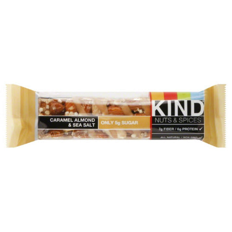 Kind Caramel Almond & Sea Salt Nuts & Spices Bar, 1.4 Oz (Pack of 12)