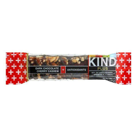 Kind Chocolate Dark Cherry Plus Bar, 1.4 OZ (Pack of 12)