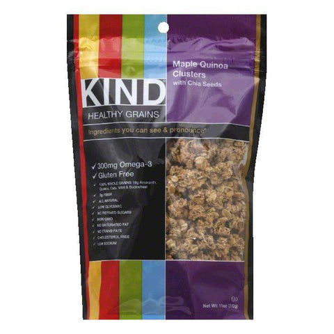 Kind Maple Quinoa with Chia Seeds Clusters, 11 Oz (Pack of 6)