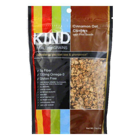 Kind Cinnamon Oat Clusters with Flax Seeds, 11 OZ (Pack of 6)