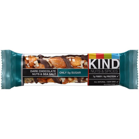 KIND Dark Chocolate Nuts & Sea Salt 1.4 Oz Bar (Pack of 12)