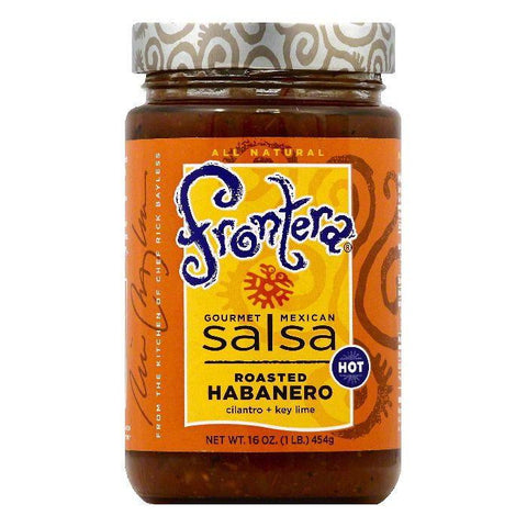 Frontera Hot Roasted Habanero Gourmet Mexican Salsa, 16 OZ (Pack of 6)