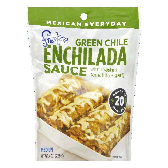 Frontera Pouch Medium Roasted Tomatillo & Green Chile Enchilada Sauce, 8 OZ (Pack of 6)