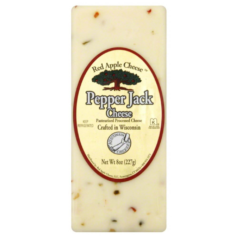 Red Apple Cheese Pepper Jack Cheese, 8 Oz (Pack of 12)