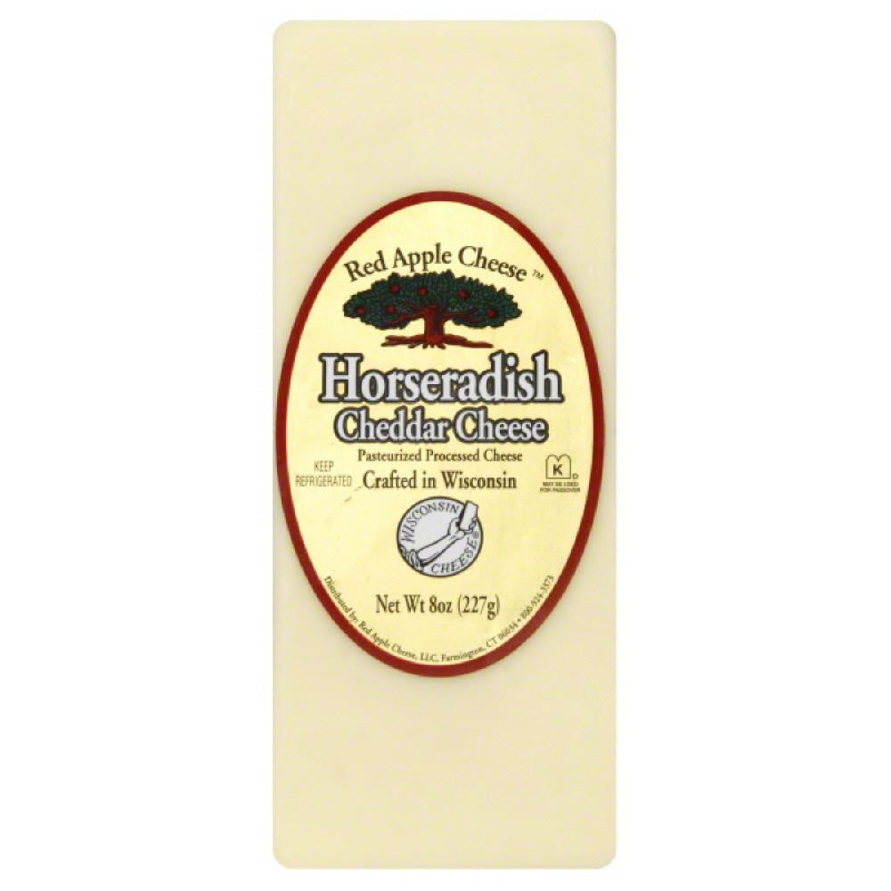 Red Apple Cheese Horseradish Cheddar Cheese, 8 Oz (Pack of 12)