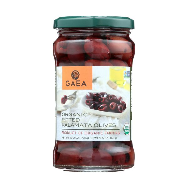 Gaea Organic Pitted Kalamata Olives, 5.6 OZ (Pack of 8)