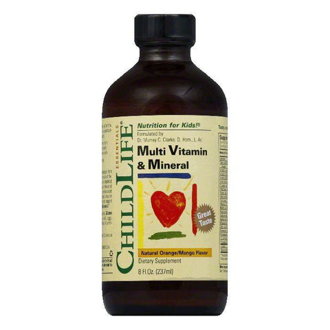 ChildLife Natural Orange/Mango Flavor Multi Vitamin & Mineral, 8 Oz (Pack of 3)