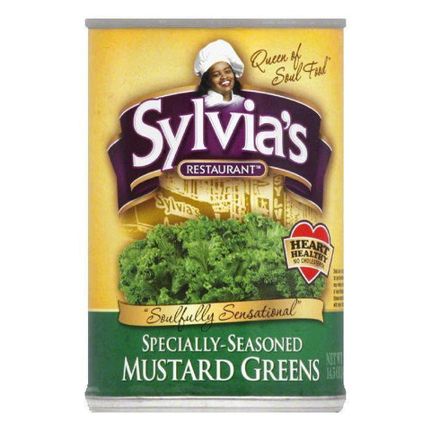 Sylvia's Mustard Greens, 14.5 OZ (Pack of 12)