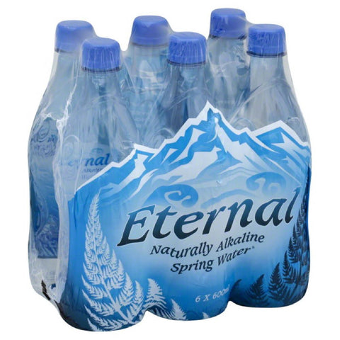 Eternal Naturally Alkaline Spring Water, 600 Ml (Pack of 4)