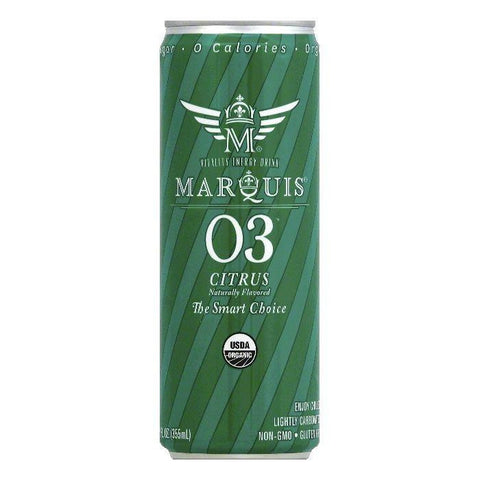 Marquis Citrus Vitality Energy Drink, 12 OZ (Pack of 12)