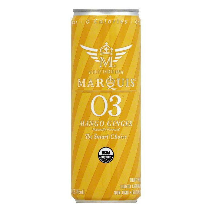 Marquis Mango Ginger Vitality Energy Drink, 12 OZ (Pack of 12)