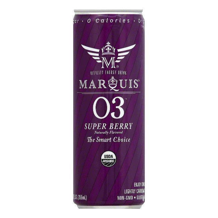 Marquis Super Berry Vitality Energy Drink, 12 OZ (Pack of 12)