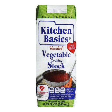 Kitchen Basics Unsalted Vegetable Cooking Stock, 8.25 Oz (Pack of 12)