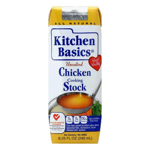 Kitchen Basics Unsalted Chicken Cooking Stock, 8.25 Oz (Pack of 12)