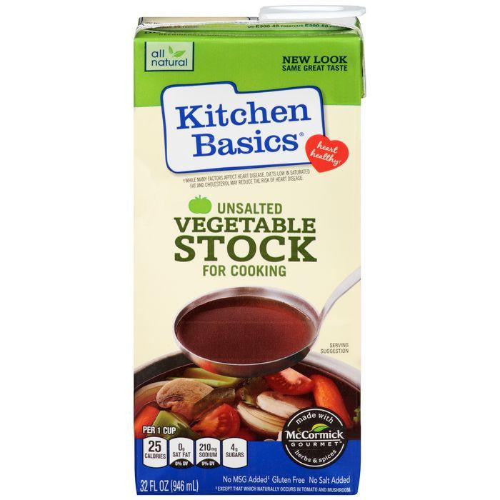 Kitchen Basics Unsalted Vegetable Cooking Stock 32 fl. Oz Carton (Pack of 12)