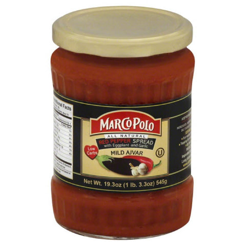 Marco Polo Mild with Eggplant and Garlic Red Pepper Spread, 19.3 Oz (Pack of 12)