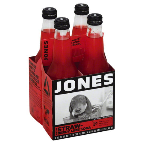 Jones Strawberry Lime Flavor Soda, 48 Fo (Pack of 6)