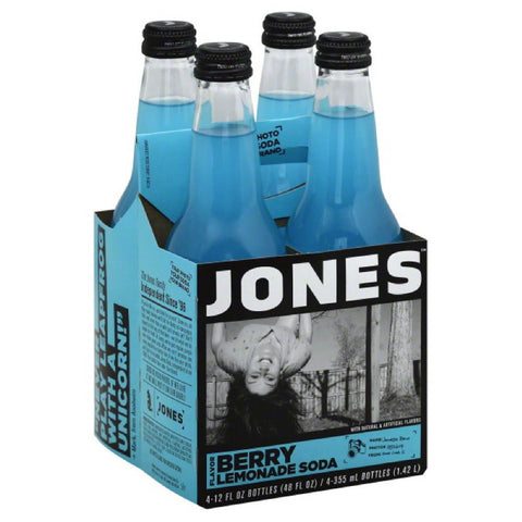 Jones Berry Lemonade Flavor Soda, 48 Fo (Pack of 6)