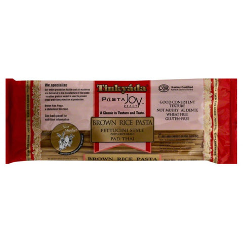 Tinkyada Pad Thai Fettuccini Style Brown Rice Pasta, 14 Oz (Pack of 12)